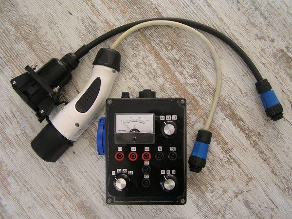 Įkrovimo stotelių testavimo prietaisas