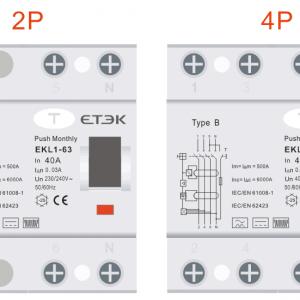 RCD TYPE B EKL1-63B 2P 4P